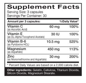 Dymatize Z-Force Supplement Facts