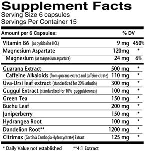 Dymatize Dyma Retic Supplement Facts