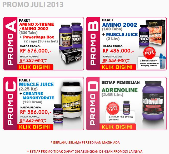 promo ultimate nutrition july 2013
