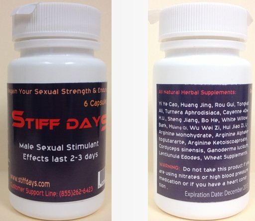 Stiff Days Supplement Facts