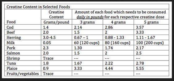 sumber kreatin alami dari makanan