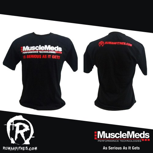 t-shirt musclemeds black