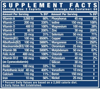 Ronnie Cole Vita XS Supplement Facts