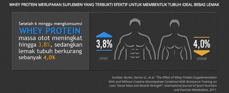 Whey Protein Meningkatkan Massa Otot
