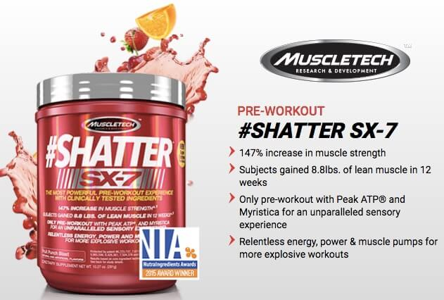 Jual Pre Workout Shatter SX-7