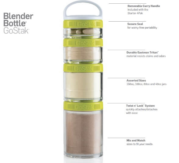 Blender Bottle GO STAK