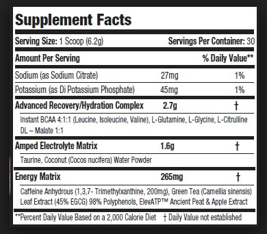 Amino BLitz Supplement Facts