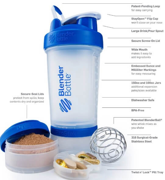 Shaker Blender Bottle ProStak