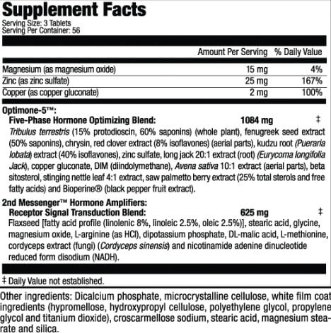 MHP T-Bomb 3xtreme Supplement Facts